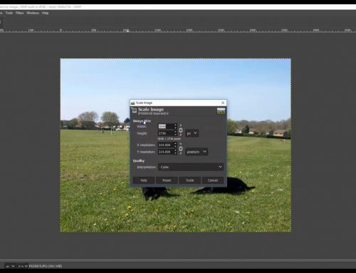 How optimise an image for website use using GIMP